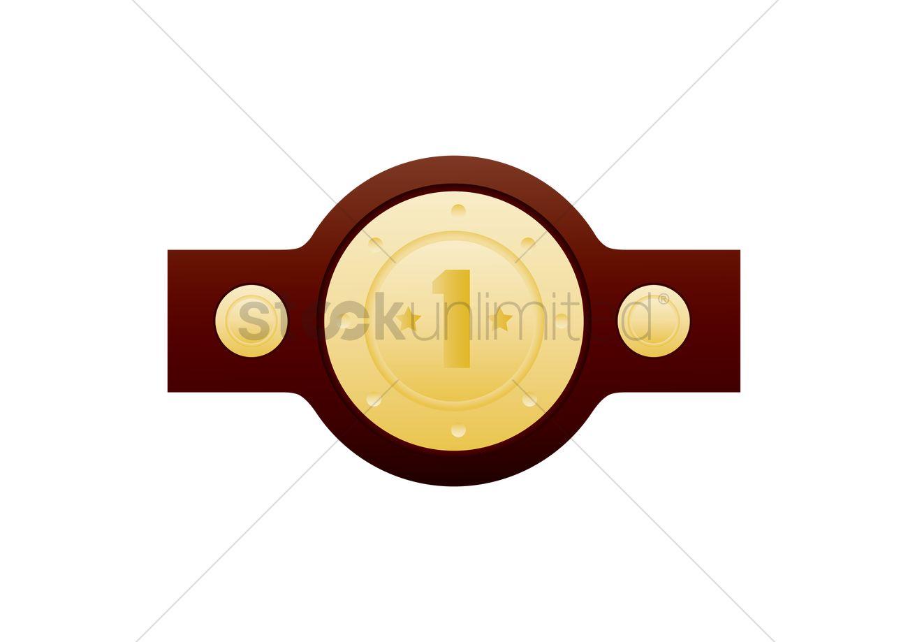 1300x919 Champion Belt Vector Image