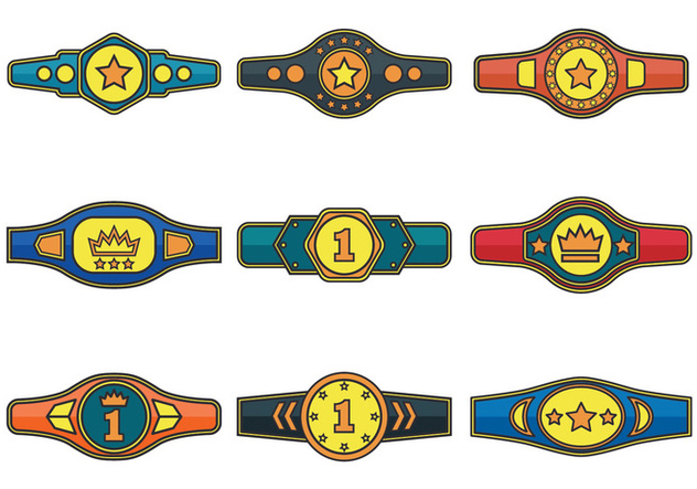 632x443 Championship Belt Vector Icons Free Vector Download 422903 Cannypic