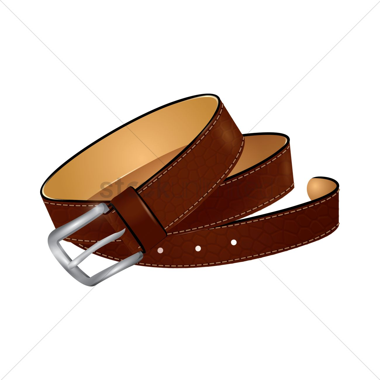 1300x1300 Leather Belt Vector Image