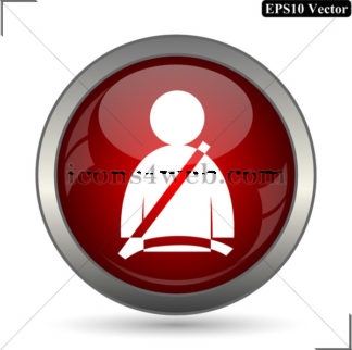 324x322 Safety Belt Vector Icon. Safety Belt Vector Button. Eps10