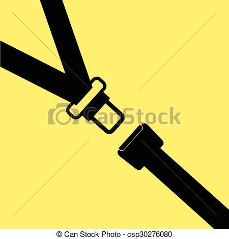 450x470 Seat Belt Vector On Yellow.