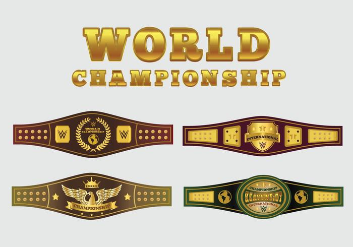 700x490 World Championship Belt Vector Pack