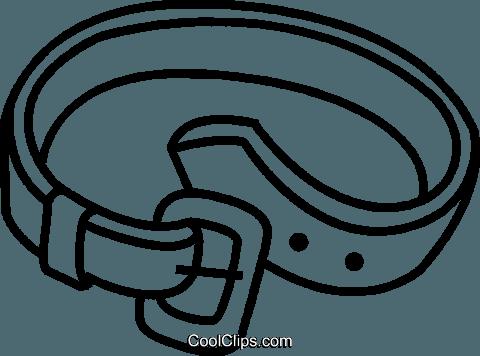 480x356 Belt Royalty Free Vector Clip Art Illustration Vc041481
