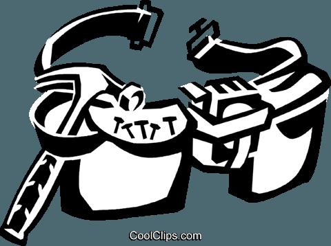480x358 Tool Belt Royalty Free Vector Clip Art Illustration Vc038932