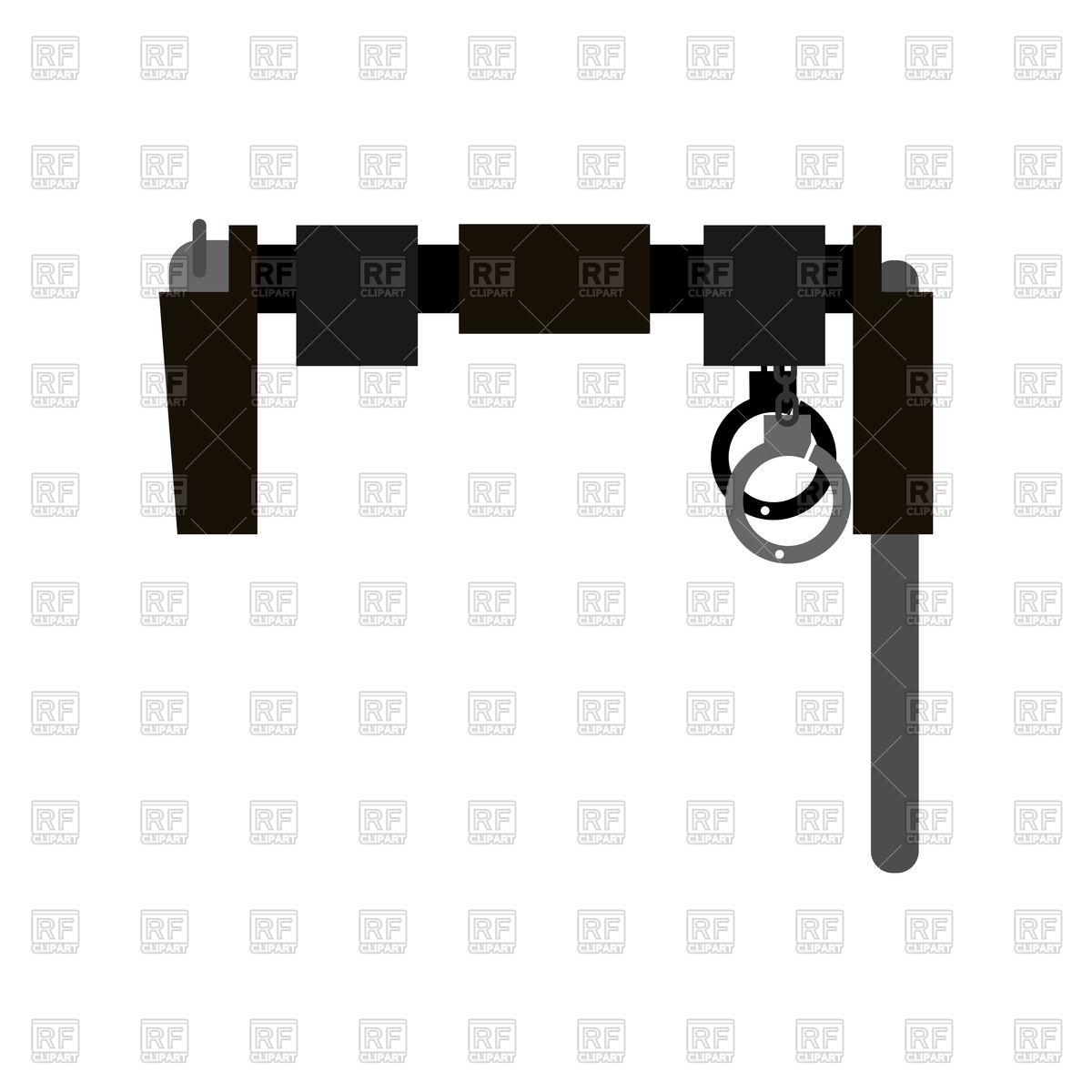 1200x1200 Belt Of Policeman With Gun, Club And Handcuffs Vector Image