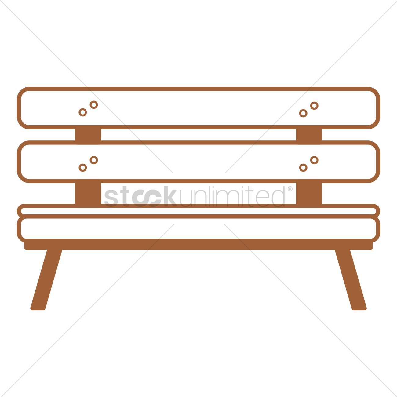 1300x1300 Park Bench Vector Image