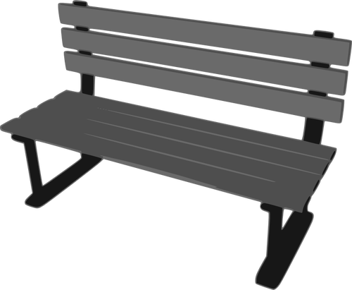 500x411 3d Park Bench Vector Drawing Public Domain Vectors