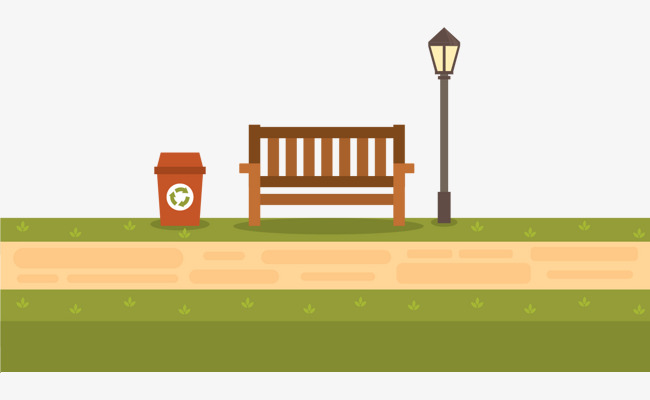 650x400 Vector Painted Park Benches, Vector, Hand Painted, Park Bench Png