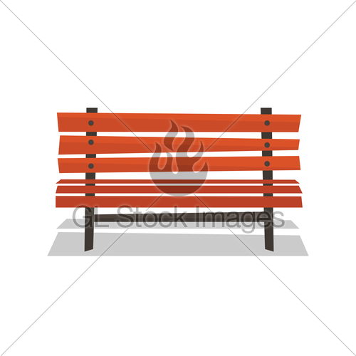 500x500 Wooden Park Bench Vector Illustration. Gl Stock Images