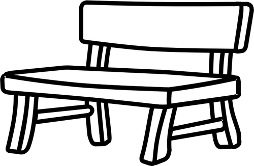 500x326 Wooden Park Bench Vector Image Public Domain Vectors
