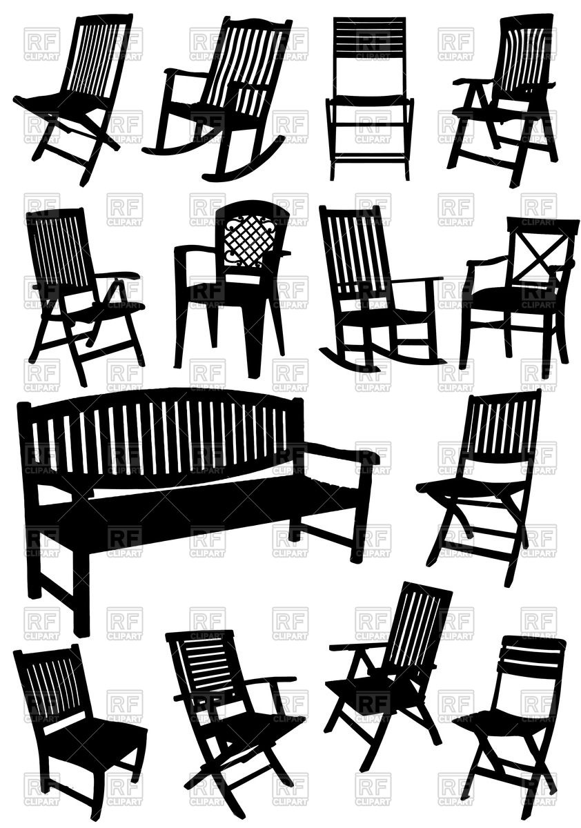 842x1200 Collection Of Silhouettes Of Lawn (Garden) Furniture