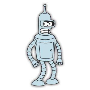 300x300 Bender Robot Futurama Free Vector Download Graphic Design