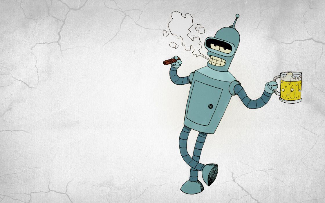 1120x700 Futurama Bender Beer Vector Graphics Cartoons Wallpaper
