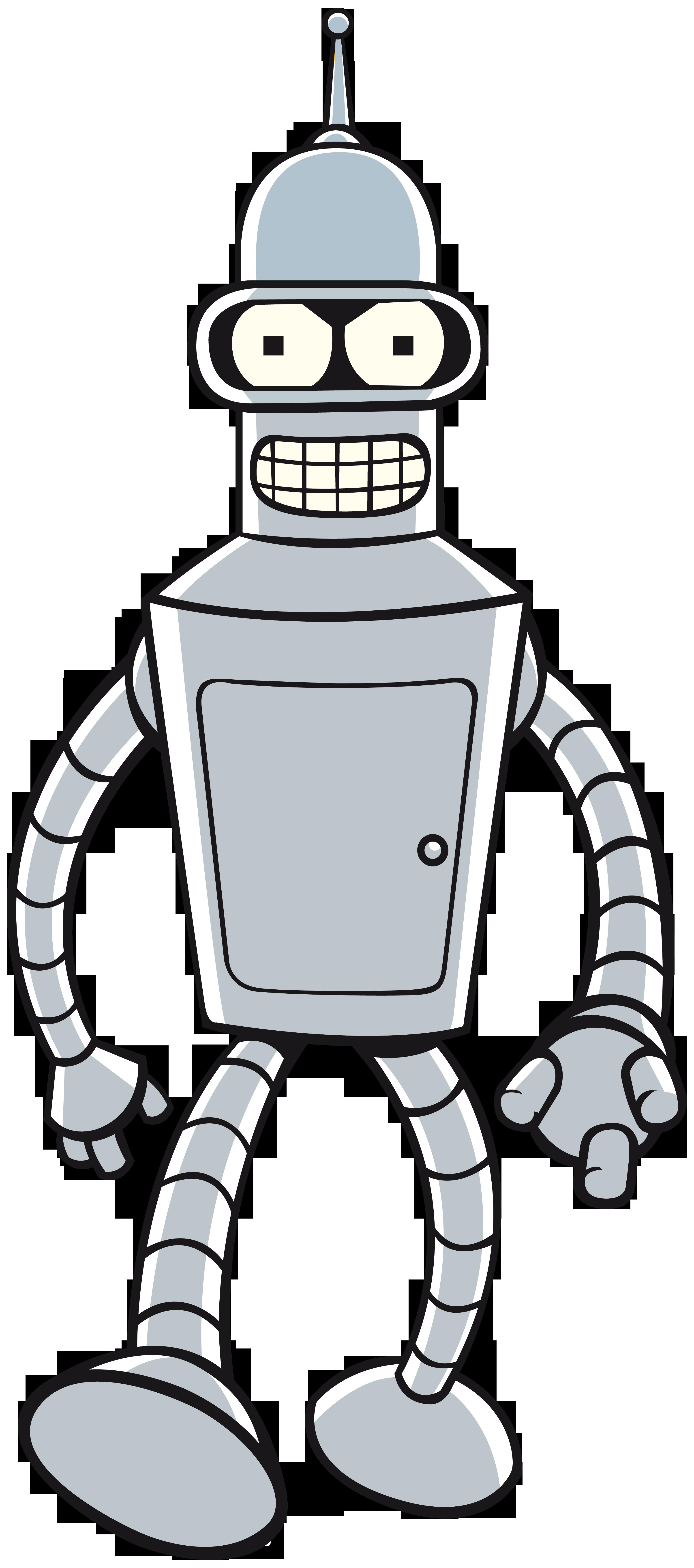 3100x7000 Futurama Bender Png Image