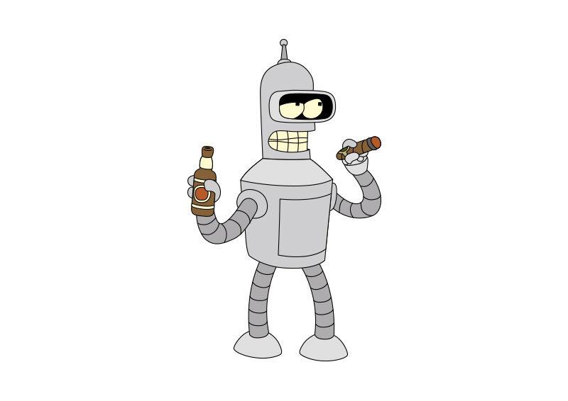 800x566 Futurama Bender Vector Character