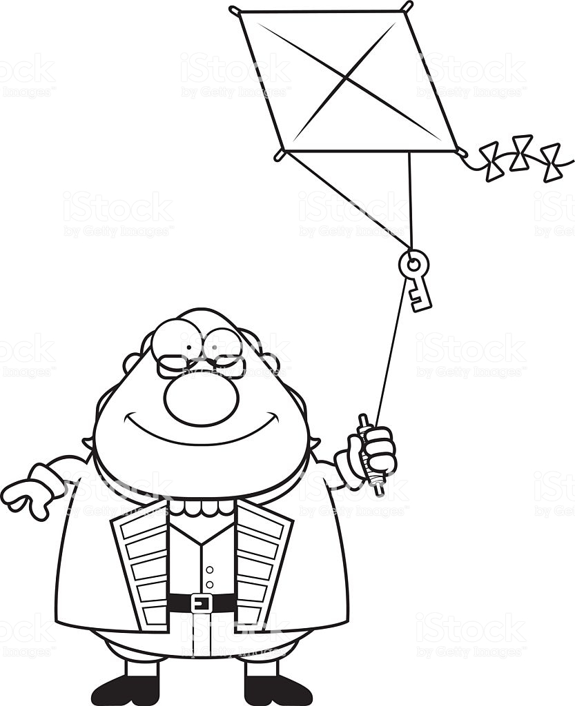 833x1024 Collection Of Benjamin Franklin Kite Drawing High Quality