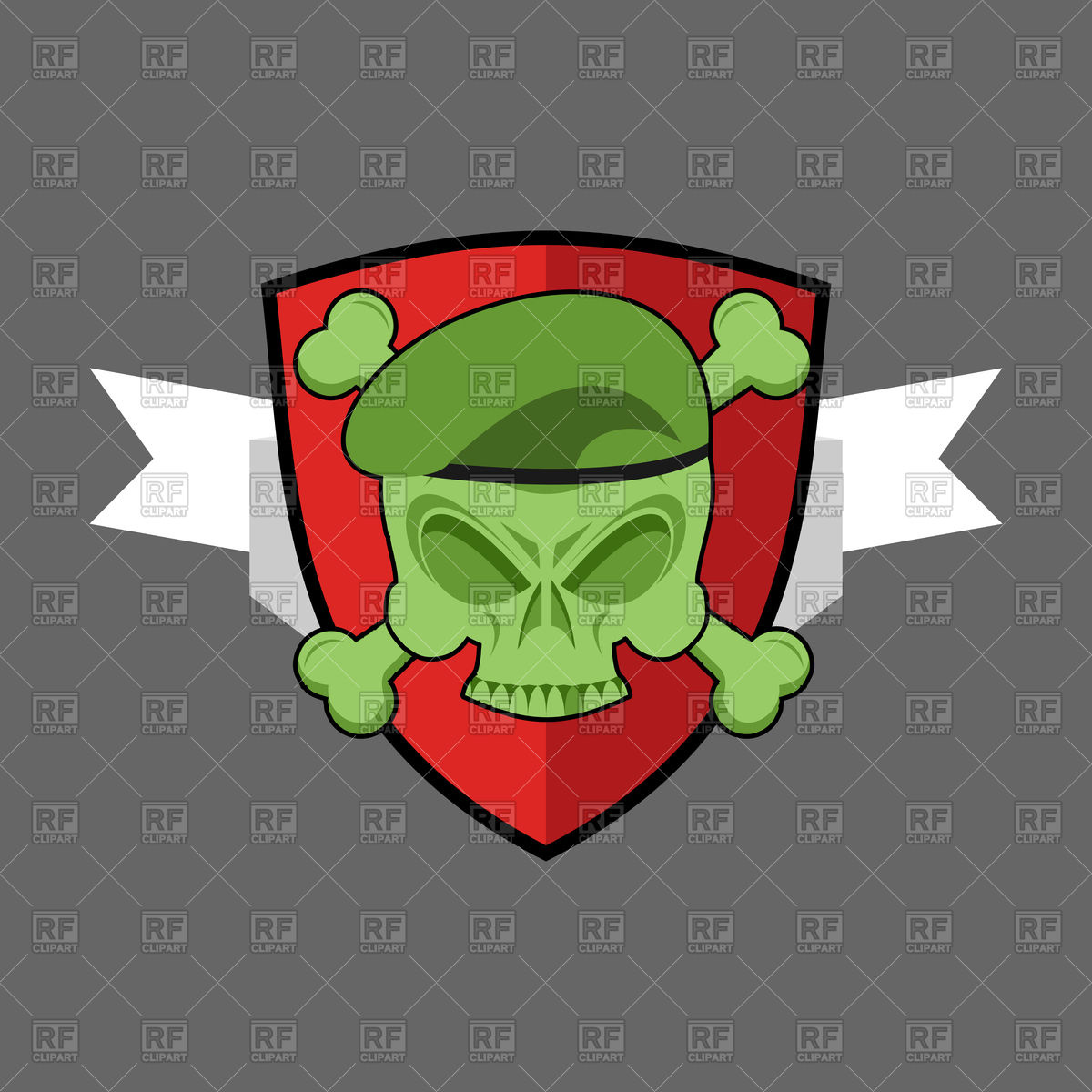 1200x1200 Military Emblem, Soldiers Skull In Beret Vector Image Vector