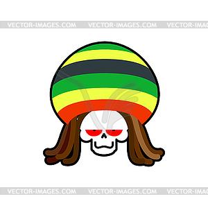 300x300 Rasta Death. Rastafarian Dreadlocks Skull And Beret
