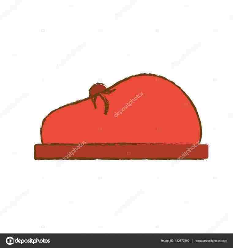 761x809 Red Beret Vector French Felt Beret Icon Cartoon Stock Vector