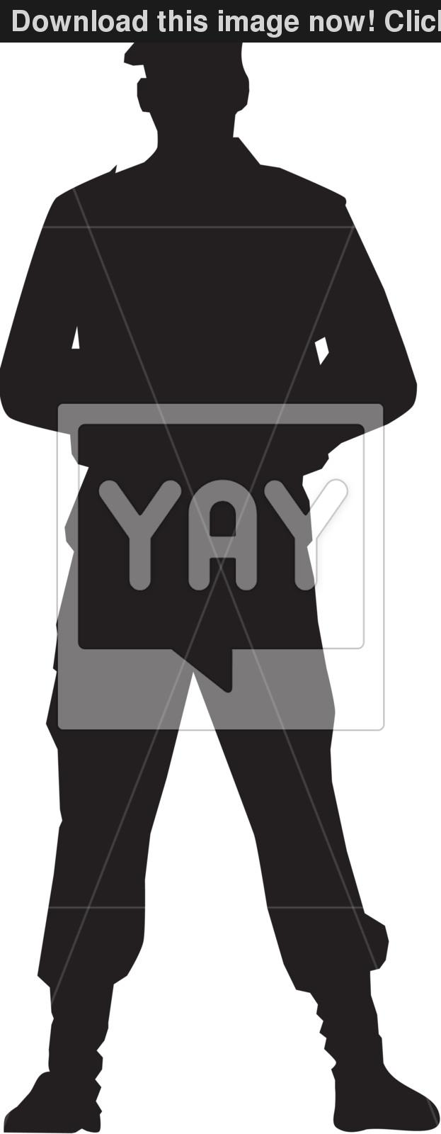 623x1600 Special Force Man In Beret. Vector Silhouette Vector