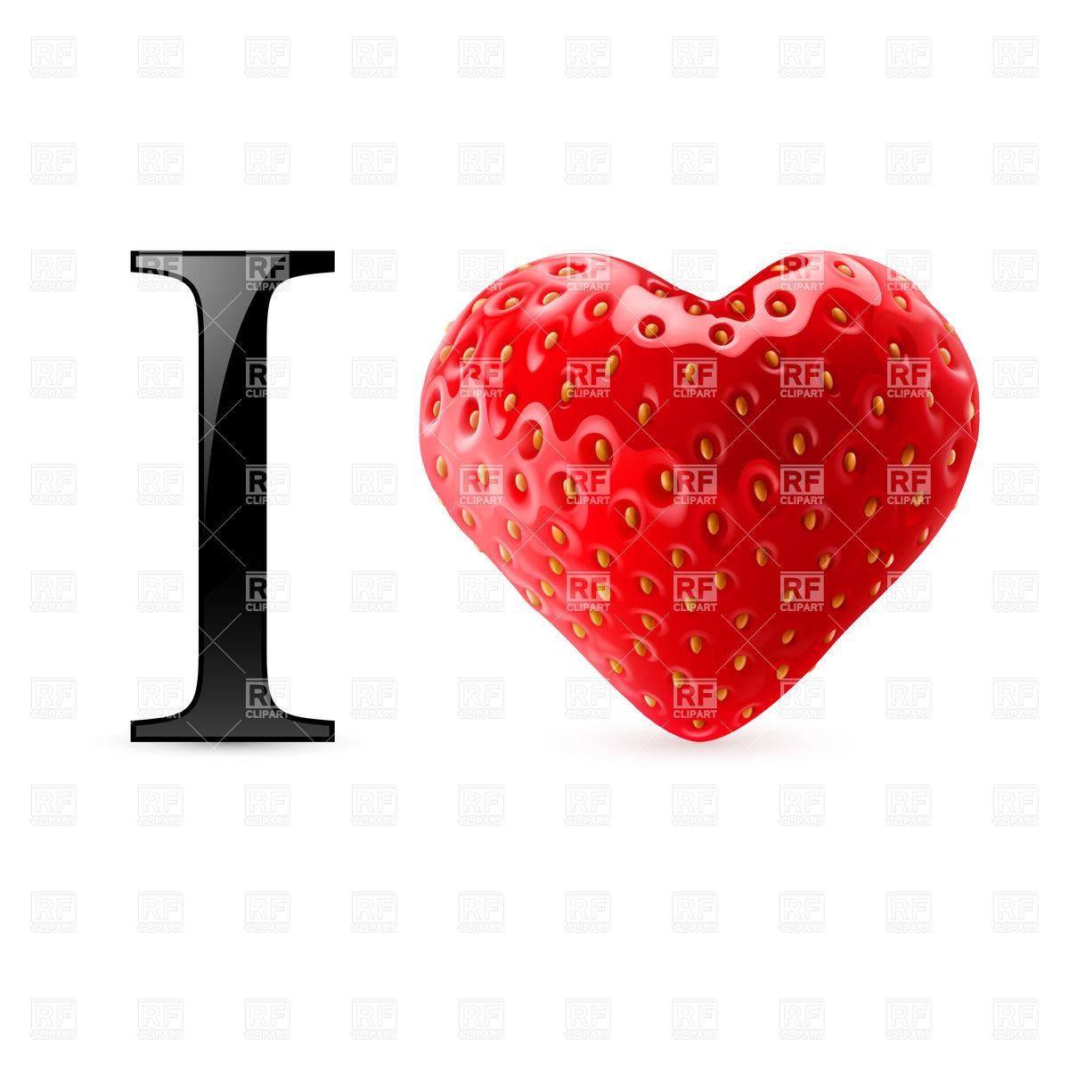 1200x1200 I Love Strawberry