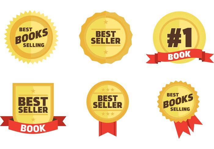 700x490 Best Sellers Book Badges Vector