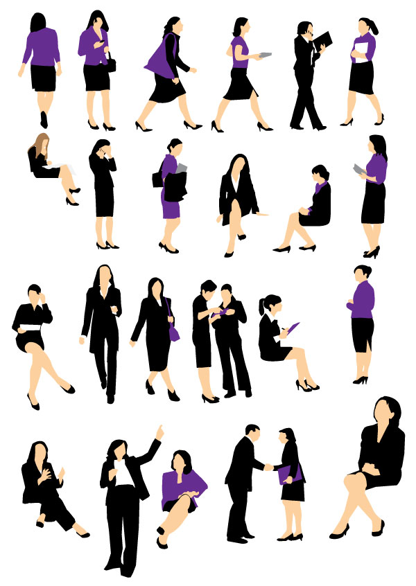 600x846 Best Of, Free Vector Business People Silhouette Packs