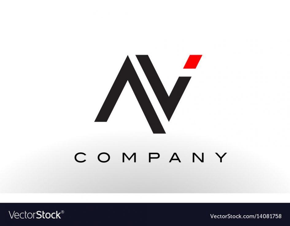 945x737 Logos. Av Logo Image Av Logo Letter Design Royalty Free Vector