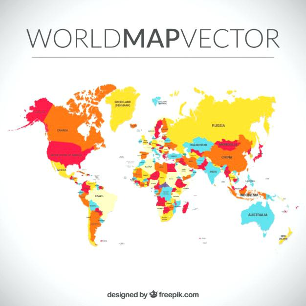 626x626 World Map Vector Template Best Of Free Vector World Maps World Map