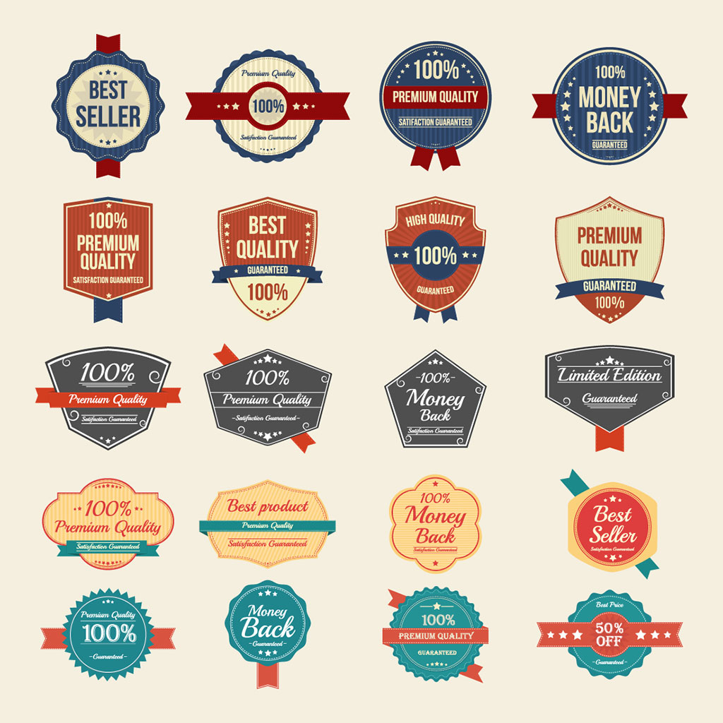 1024x1024 100 Free Vector Vintage Badges, Stickers Amp Stamps In Ai, Eps Format
