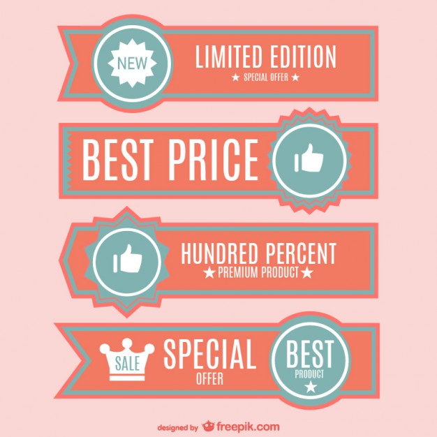 626x626 Best Price Banners Set Vector Free Download