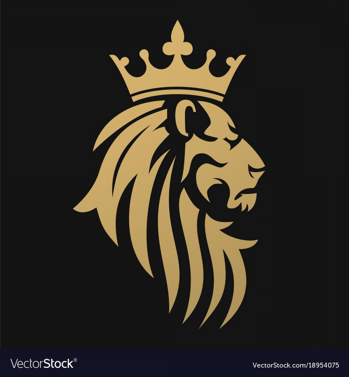 1200x1296 Best Hd Lion With Crown Logo Vector Drawing Shopatcloth