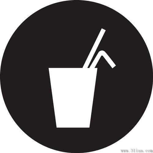 500x500 Black Background Beverage Icons Vector Free Vector In Adobe