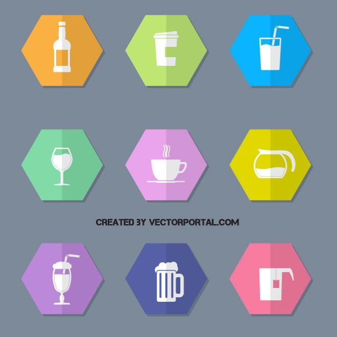 660x660 Drink And Beverage Vector Icons