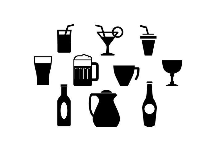700x490 Free Beverage Silhouette Icon Vector