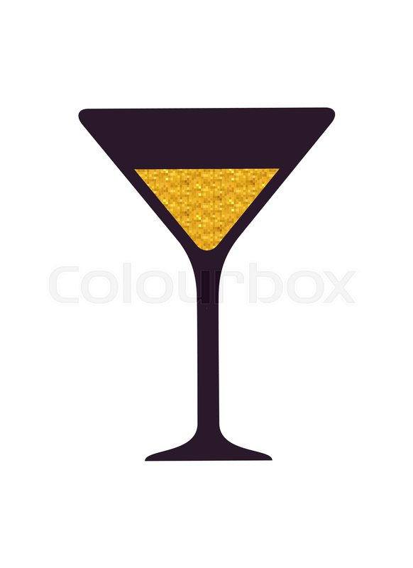 582x800 Glass With Alcoholic Drink Icon Isolated On White Background