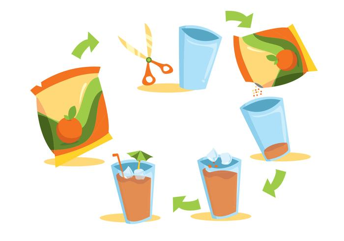 700x490 Juice Mix Beverage Vector Set