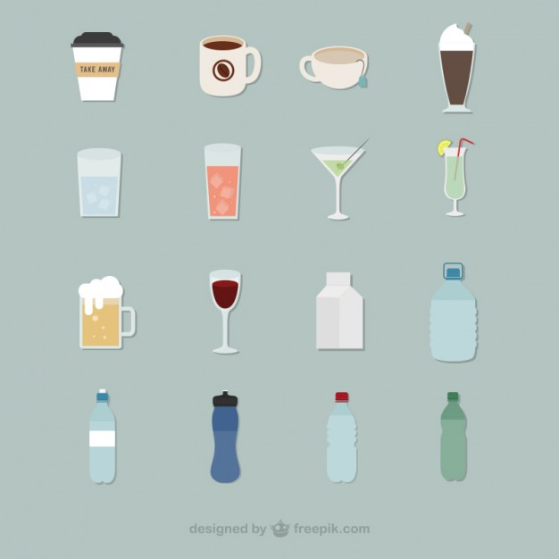 626x626 Beverage Icons Vector Free Download