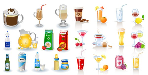 600x305 Beverage Vector Material My Free Photoshop World
