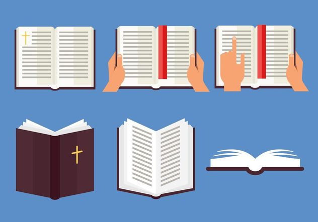632x442 Open Bible Vector Set Free Vector Download 149377 Cannypic