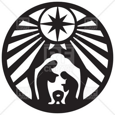 400x400 Silhouette Of Scene Of The Holy Bible Vector Image Vector