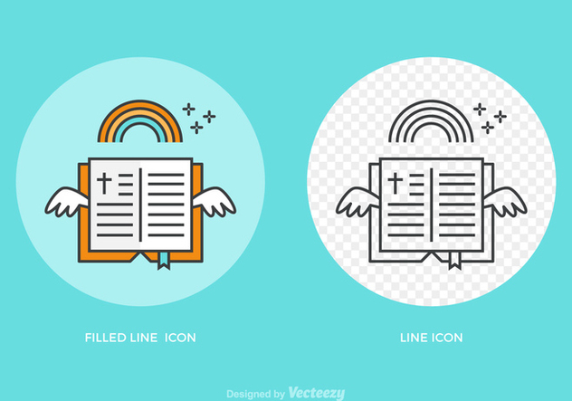 632x443 Free Open Bible Line Vector Icon Free Vector Download 275261