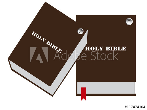 500x375 Bible Vector Image, Bible Closed Vector Illustration