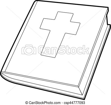 450x424 Bible Icon, Outline Style. Bible Icon. Outline Illustration Of