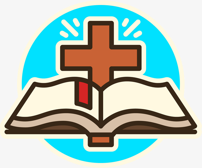 650x541 Cross And Bible Designed Logo, Book, Book, Logo Png And Vector For