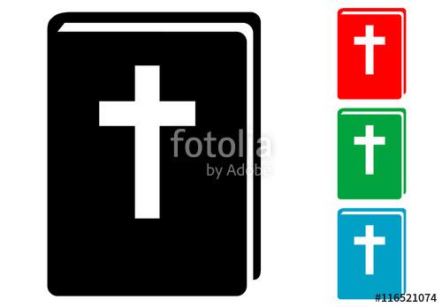 500x348 Icono Plano Biblia En Varios Colores Stock Image And Royalty Free