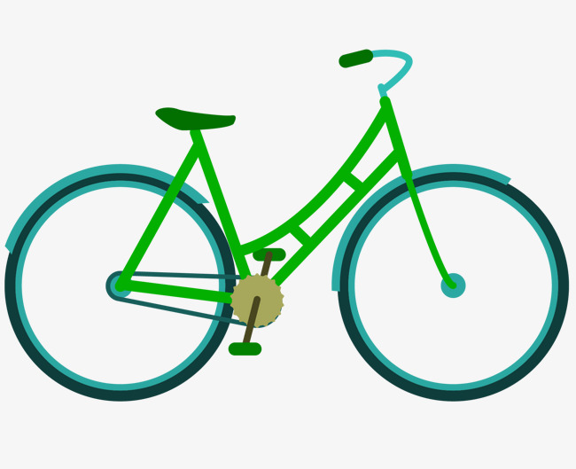 650x529 Vector Cartoon Vehicles Bicycle, Cartoon Vector, Bicycle Vector