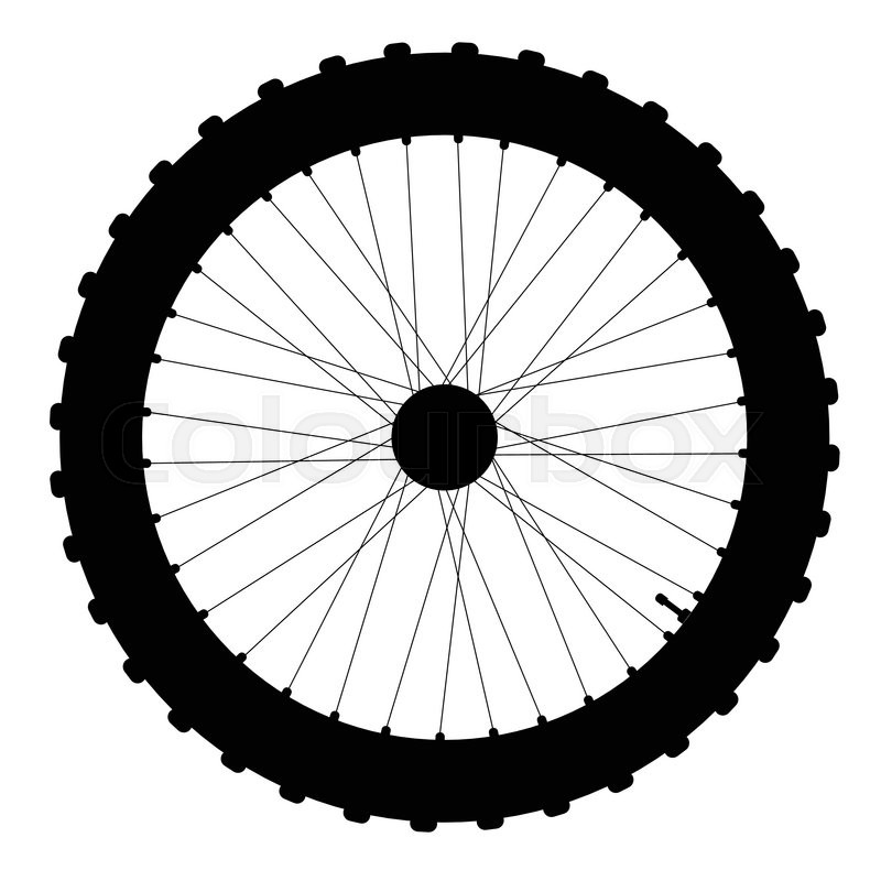 800x800 A Knobly Tyre On A Bicycle Wheel With Valve And Spoke Nipples In