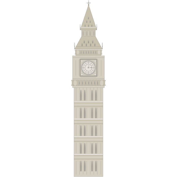 700x700 Big Ben Vector Illustration Wall Decal We Live To Change