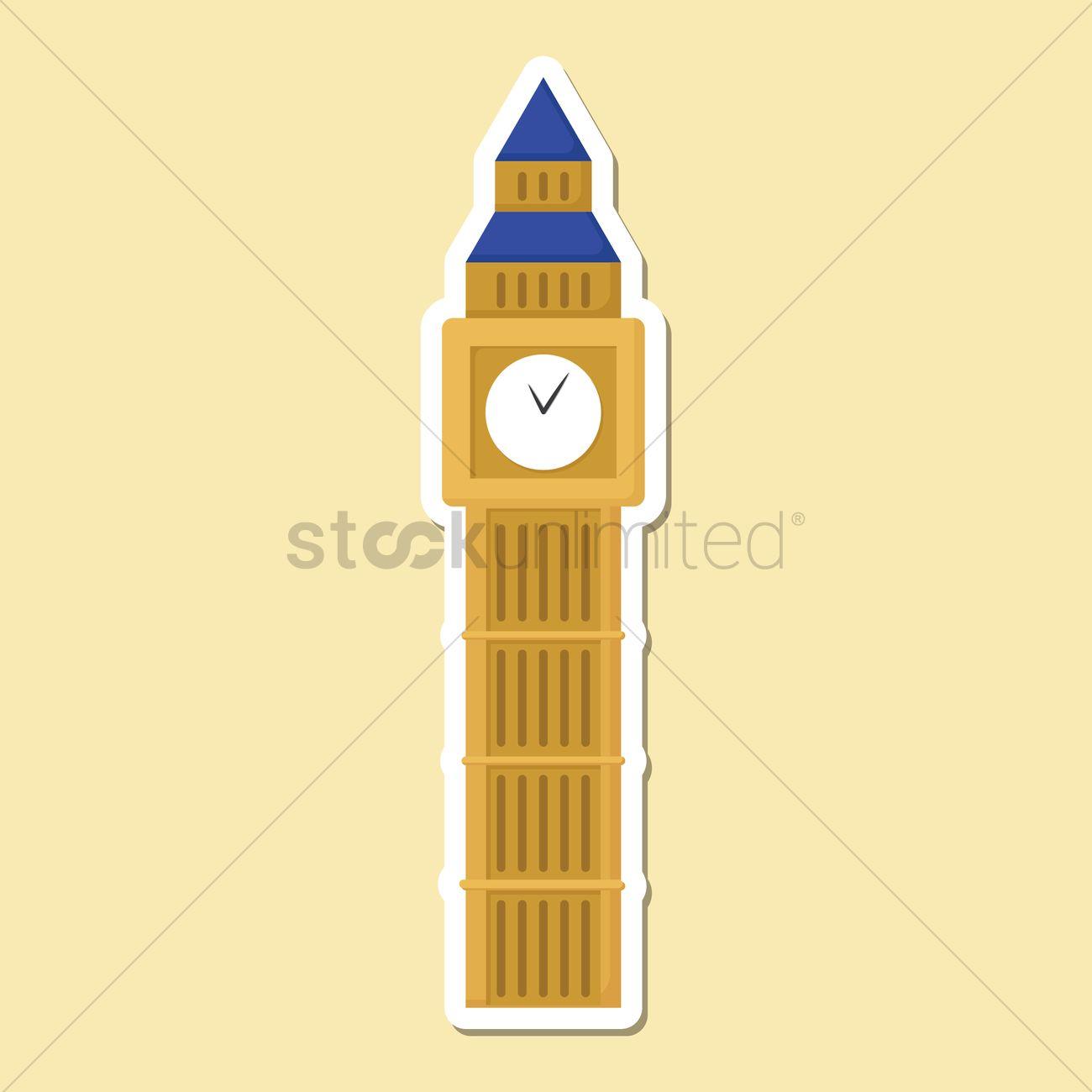 1300x1300 Big Ben Vector Image